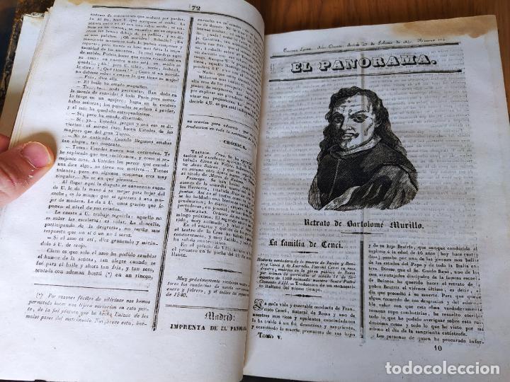 Libros antiguos: Revistas literarias El Panorama. Números de enero a septiembre de 1841. RARO - Foto 15 - 229661735