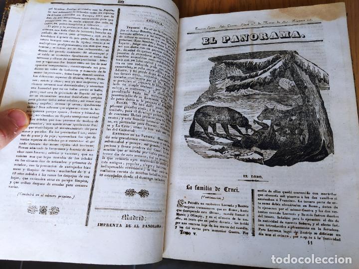 Libros antiguos: Revistas literarias El Panorama. Números de enero a septiembre de 1841. RARO - Foto 16 - 229661735