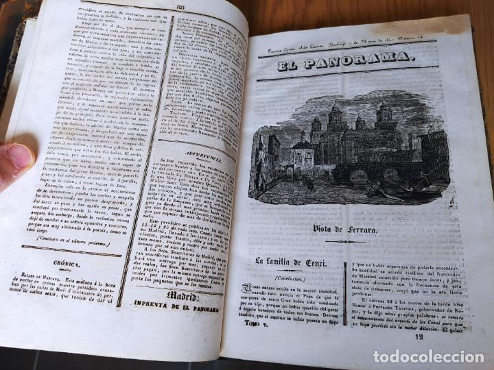 Libros antiguos: Revistas literarias El Panorama. Números de enero a septiembre de 1841. RARO - Foto 17 - 229661735