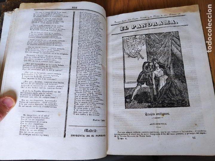 Libros antiguos: Revistas literarias El Panorama. Números de enero a septiembre de 1841. RARO - Foto 19 - 229661735