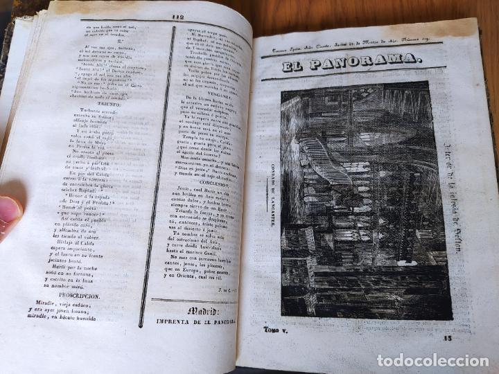 Libros antiguos: Revistas literarias El Panorama. Números de enero a septiembre de 1841. RARO - Foto 20 - 229661735