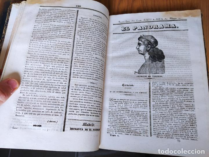 Libros antiguos: Revistas literarias El Panorama. Números de enero a septiembre de 1841. RARO - Foto 21 - 229661735