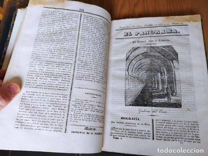Libros antiguos: Revistas literarias El Panorama. Números de enero a septiembre de 1841. RARO - Foto 22 - 229661735