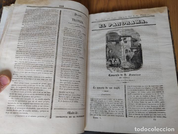 Libros antiguos: Revistas literarias El Panorama. Números de enero a septiembre de 1841. RARO - Foto 24 - 229661735
