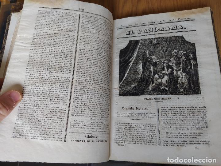Libros antiguos: Revistas literarias El Panorama. Números de enero a septiembre de 1841. RARO - Foto 25 - 229661735
