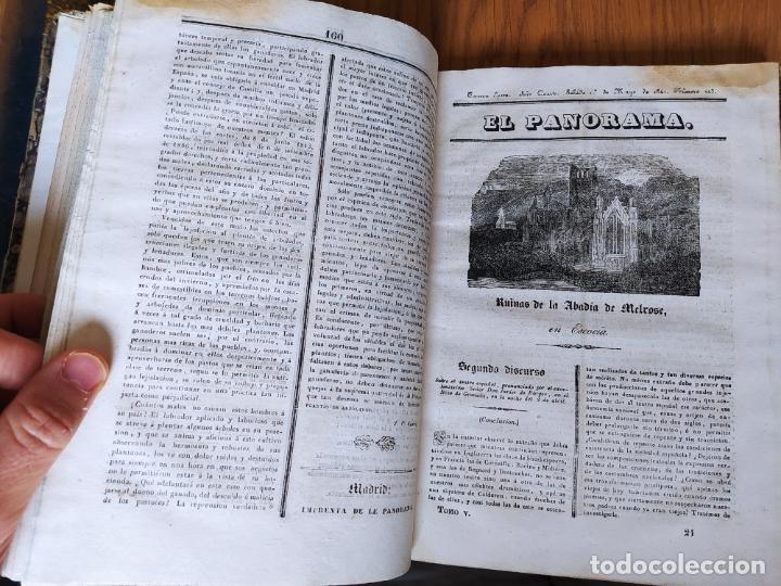 Libros antiguos: Revistas literarias El Panorama. Números de enero a septiembre de 1841. RARO - Foto 26 - 229661735