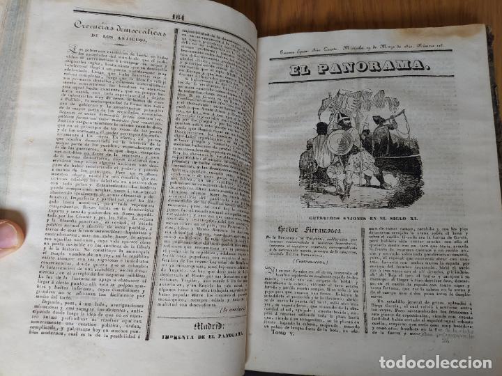 Libros antiguos: Revistas literarias El Panorama. Números de enero a septiembre de 1841. RARO - Foto 29 - 229661735