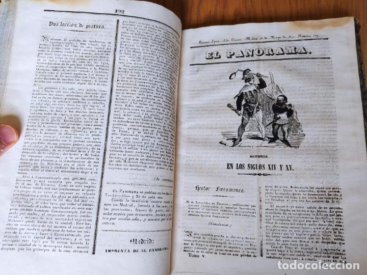 Libros antiguos: Revistas literarias El Panorama. Números de enero a septiembre de 1841. RARO - Foto 30 - 229661735