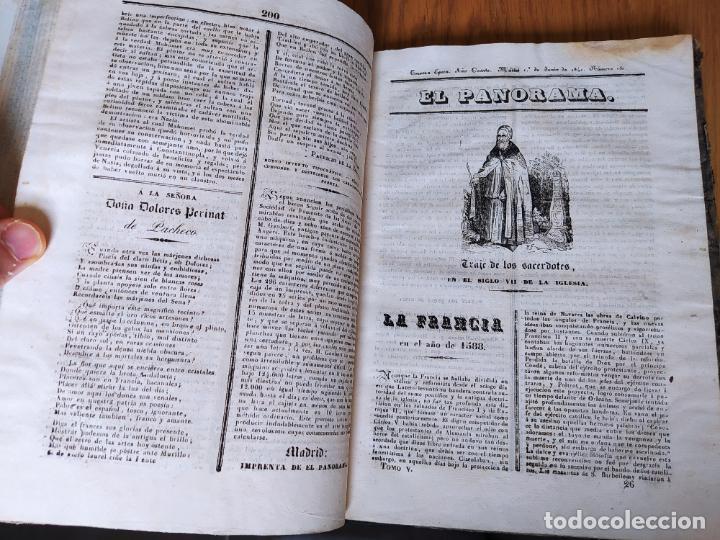 Libros antiguos: Revistas literarias El Panorama. Números de enero a septiembre de 1841. RARO - Foto 31 - 229661735