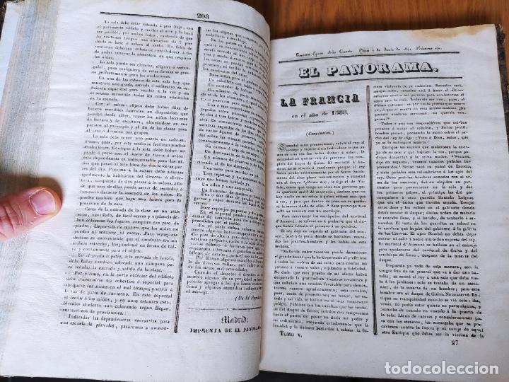 Libros antiguos: Revistas literarias El Panorama. Números de enero a septiembre de 1841. RARO - Foto 32 - 229661735