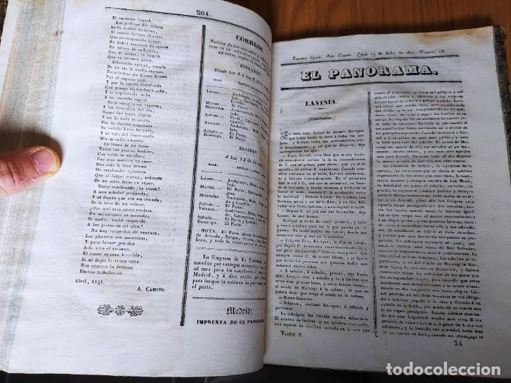 Libros antiguos: Revistas literarias El Panorama. Números de enero a septiembre de 1841. RARO - Foto 36 - 229661735