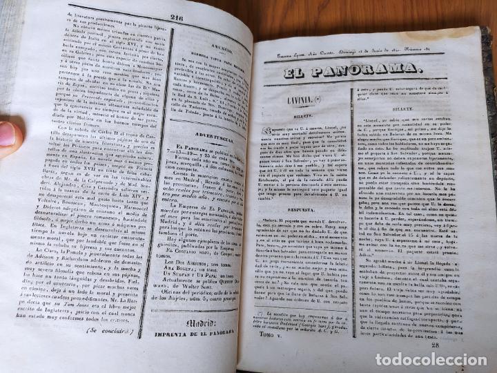Libros antiguos: Revistas literarias El Panorama. Números de enero a septiembre de 1841. RARO - Foto 37 - 229661735