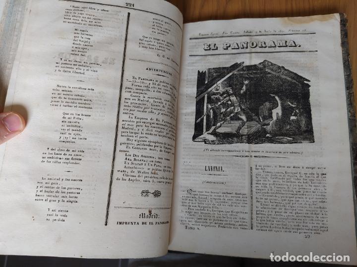 Libros antiguos: Revistas literarias El Panorama. Números de enero a septiembre de 1841. RARO - Foto 38 - 229661735