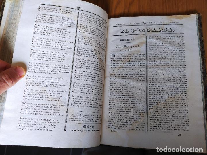 Libros antiguos: Revistas literarias El Panorama. Números de enero a septiembre de 1841. RARO - Foto 40 - 229661735