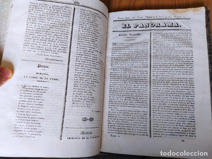 Libros antiguos: Revistas literarias El Panorama. Números de enero a septiembre de 1841. RARO - Foto 41 - 229661735
