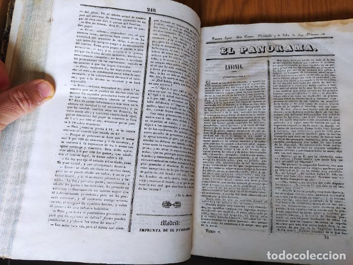 Libros antiguos: Revistas literarias El Panorama. Números de enero a septiembre de 1841. RARO - Foto 42 - 229661735