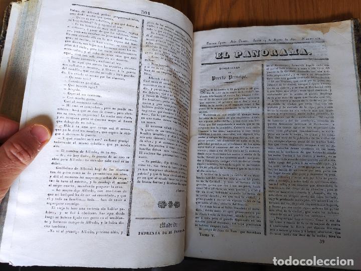 Libros antiguos: Revistas literarias El Panorama. Números de enero a septiembre de 1841. RARO - Foto 44 - 229661735