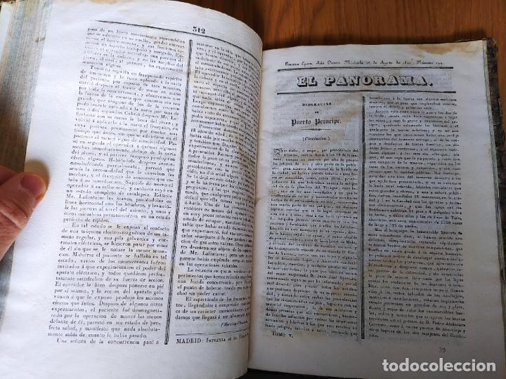 Libros antiguos: Revistas literarias El Panorama. Números de enero a septiembre de 1841. RARO - Foto 46 - 229661735