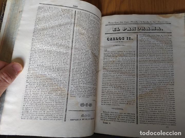 Libros antiguos: Revistas literarias El Panorama. Números de enero a septiembre de 1841. RARO - Foto 48 - 229661735
