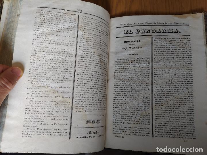 Libros antiguos: Revistas literarias El Panorama. Números de enero a septiembre de 1841. RARO - Foto 49 - 229661735