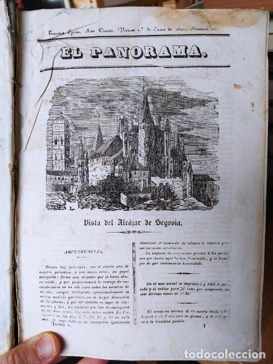 REVISTAS LITERARIAS EL PANORAMA. NÚMEROS DE ENERO A SEPTIEMBRE DE 1841. RARO (Libros antiguos (hasta 1936), raros y curiosos - Literatura - Ensayo)