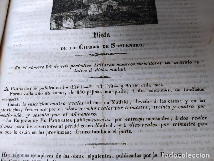 Libros antiguos: Revistas literarias El Panorama. Números de enero a septiembre de 1841. RARO - Foto 57 - 229661735