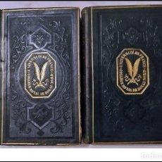 Libros antiguos: AÑO 1845: 2 ELEGANTES TOMOS CON OBRAS DE BACON. SIGLO XIX.. Lote 234057040