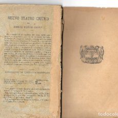 Libros antiguos: GALDÓS DRAMATURGO VISTO POR EMILIA PARDO BAZÁN. Lote 234756920