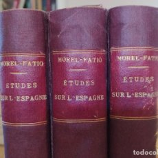 Libros antiguos: ETUDES SUR L'ESPAGNE. PREMIÈRE, DEUXIÈME ET TROISIÈME SÉRIES. MOREL-FATIO, A. 1888-1904 RARE. Lote 235877605