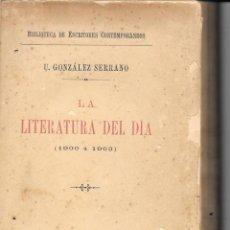 Libros antiguos: CRÏTICA LITERARIA DE 1900, URBANO GONZÁLEZ SERRANO. Lote 235985635