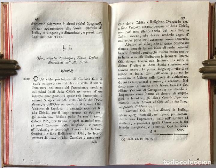 Libros antiguos: SAGGIO STORICO-APOLOGETICO DELLA LETTERATURA SPAGNUOLA. Contro le pregiudicate opinioni di alcuni... - Foto 4 - 238410415