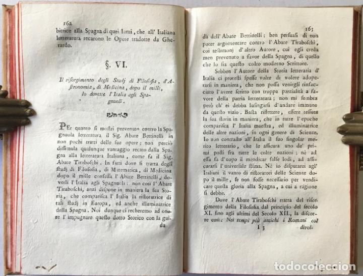 Libros antiguos: SAGGIO STORICO-APOLOGETICO DELLA LETTERATURA SPAGNUOLA. Contro le pregiudicate opinioni di alcuni... - Foto 8 - 238410415