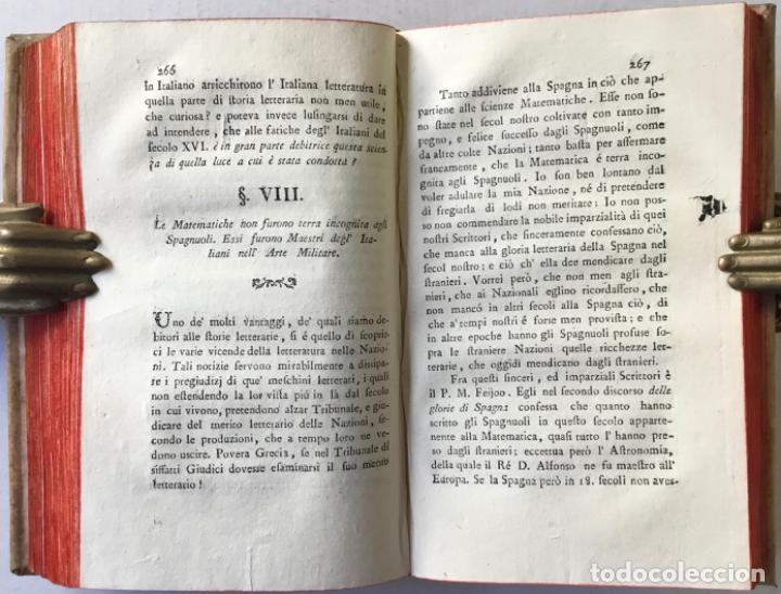 Libros antiguos: SAGGIO STORICO-APOLOGETICO DELLA LETTERATURA SPAGNUOLA. Contro le pregiudicate opinioni di alcuni... - Foto 14 - 238410415