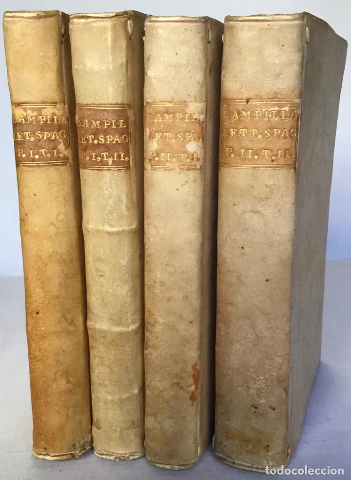SAGGIO STORICO-APOLOGETICO DELLA LETTERATURA SPAGNUOLA. CONTRO LE PREGIUDICATE OPINIONI DI ALCUNI... (Libros antiguos (hasta 1936), raros y curiosos - Literatura - Ensayo)