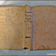 Libros antiguos: AÑO 1778: FEIJOÓ: THEATRO CRÍTICO UNIVERSAL: VENIDA DEL ANTE-CHRISTO.. Lote 243433990