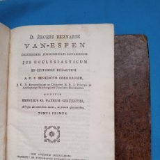 Libros antiguos: D. ZEGERI BERNARDI - V A N = E S P E N - MADRID 1792. Lote 245883695