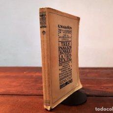 Livres anciens: TRES ENSAYOS SOBRE LA VIDA SEXUAL - GREGORIO MARAÑÓN - BIBLIOTECA NUEVA, 1934, 7ª EDICION, MADRID. Lote 252786995