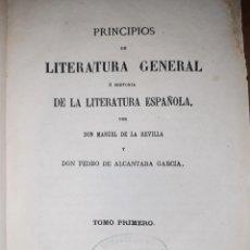 Libros antiguos: HISTORIA DE LA LITERATURA ESPAÑOLA DESDE LA BAJA EDAD MEDIA HASTA EL SIGLO XVI. MADRID, 1872.. Lote 253553540
