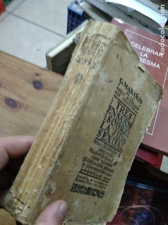Libros antiguos: Tres ensayos sobre la vida sexual, G. Marañón. 1928. L.16184-1190 - Foto 2 - 257284845