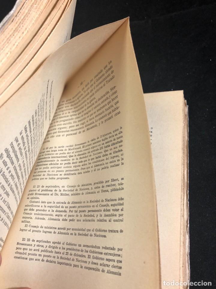 Libros antiguos: MEMORIAS DE GUSTAVO STRESEMANN. TRADUCCION FELIPE VILLAVERDE. ESPASA CALPE 1933. intonso - Foto 5 - 257446830