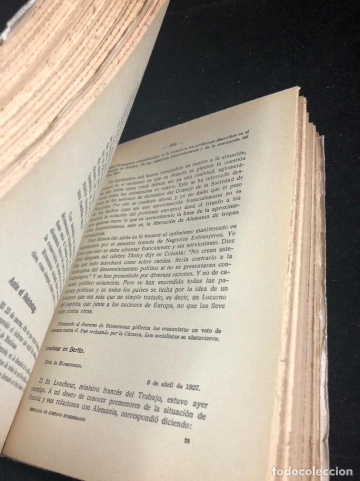 Libros antiguos: MEMORIAS DE GUSTAVO STRESEMANN. TRADUCCION FELIPE VILLAVERDE. ESPASA CALPE 1933. intonso - Foto 7 - 257446830
