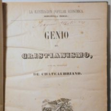 Libros antiguos: CHATEAUBRIAND, VIZCONDE DE - GENIO DEL CRISTIANISMO - VALENCIA 1870. Lote 261563565