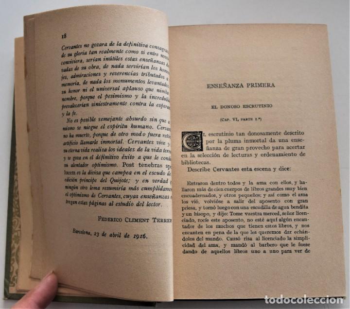 Libros antiguos: ENSEÑANZAS DEL QUIJOTE - F. CLIMENT TERRER - BIBLIOTECA CULTURA Y CIVISMO - LIBRERÍA PARERA 1916 - Foto 7 - 261615015