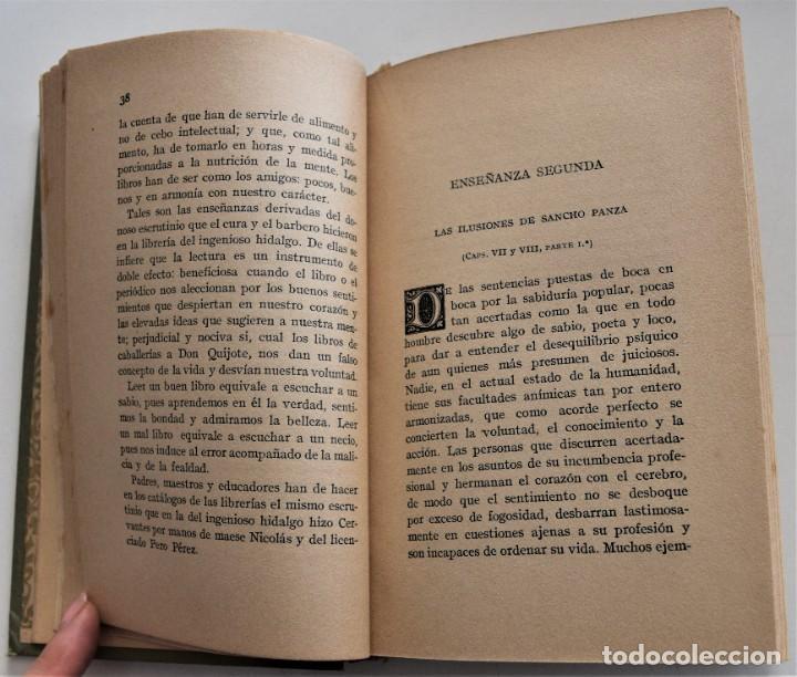 Libros antiguos: ENSEÑANZAS DEL QUIJOTE - F. CLIMENT TERRER - BIBLIOTECA CULTURA Y CIVISMO - LIBRERÍA PARERA 1916 - Foto 8 - 261615015