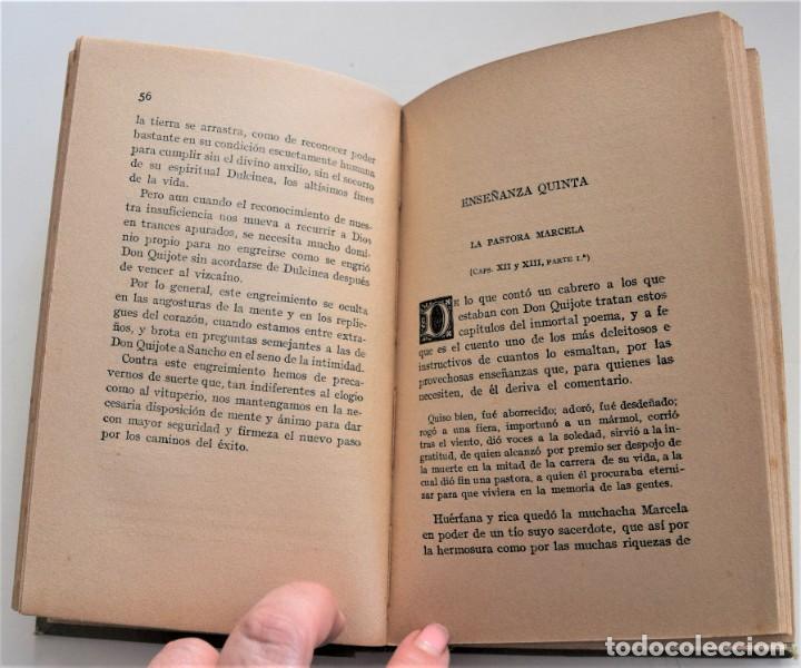 Libros antiguos: ENSEÑANZAS DEL QUIJOTE - F. CLIMENT TERRER - BIBLIOTECA CULTURA Y CIVISMO - LIBRERÍA PARERA 1916 - Foto 9 - 261615015