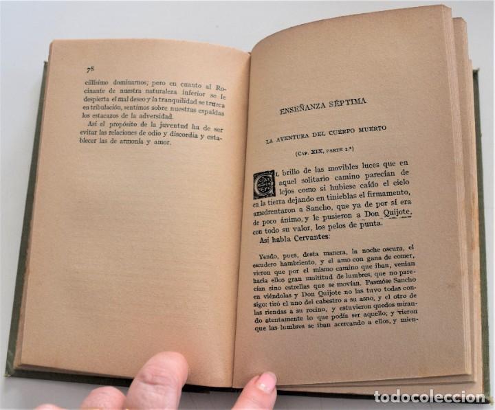 Libros antiguos: ENSEÑANZAS DEL QUIJOTE - F. CLIMENT TERRER - BIBLIOTECA CULTURA Y CIVISMO - LIBRERÍA PARERA 1916 - Foto 10 - 261615015