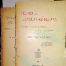 Libros antiguos: JULIO CEJADOR. TESORO DE LA LENGUA CASTELLANA. (TOMOS 4 Y 5).1908/1909 .SUCESORES DE HERNANDO. Lote 263092810