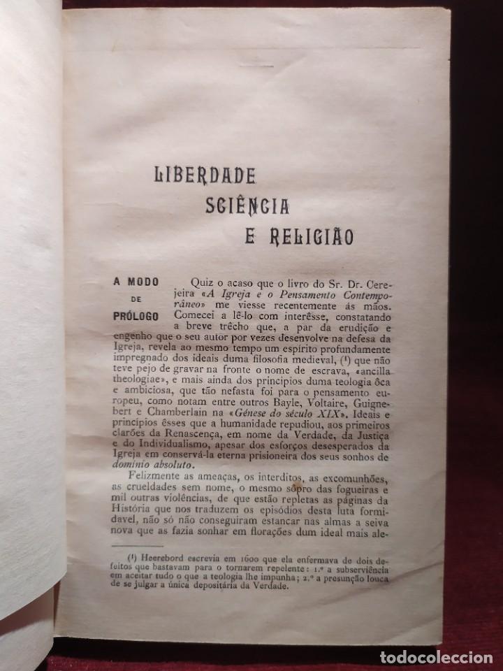 Libros antiguos: 1929. Libertad, ciencia y religión. Almeida e Paiva. - Foto 3 - 264420644
