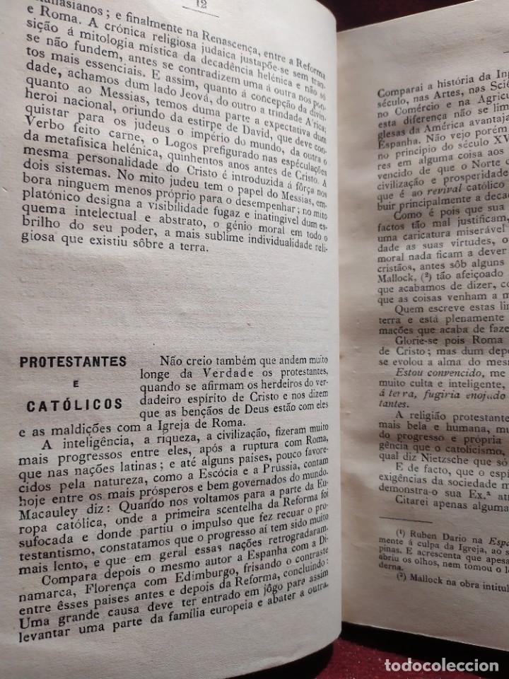 Libros antiguos: 1929. Libertad, ciencia y religión. Almeida e Paiva. - Foto 4 - 264420644