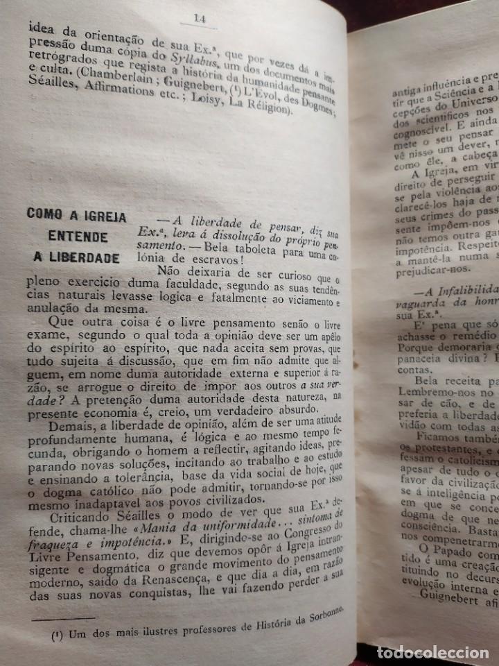 Libros antiguos: 1929. Libertad, ciencia y religión. Almeida e Paiva. - Foto 5 - 264420644